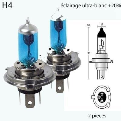 Ampoule h4 bleu 60/55w 12v