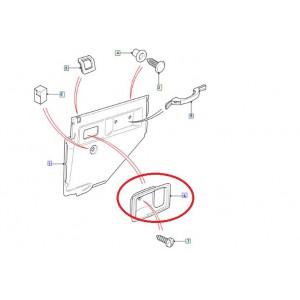 Cadre de poignee de porte interieur av ou arr pour defender 110 default