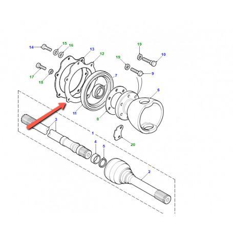 Logement de joint interieur de palier a rotule