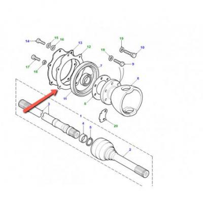 Logement de joint intérieur de palier à rotule