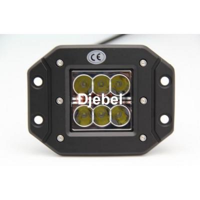 Phare encastrable DJEBEL-LINE 6 LEDS faisceau large